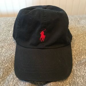 Vintage Polo Dad Hat With Red Logo